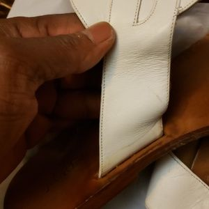 J. Crew Shoes - JCREW WHITE AND BROWN SLIPPERS SIZE 7.5